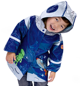 Kidorable Blue Space Hero Raincoat - Toddler