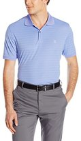 Izod Men's Short Sleeve Textured Stripe Traditional Golf Polo