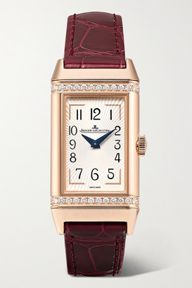 Jaeger-LeCoultre Jaeger Lecoultre Reverso One Duetto 20mm Rose Gold, Diamond And Alligator Watch
