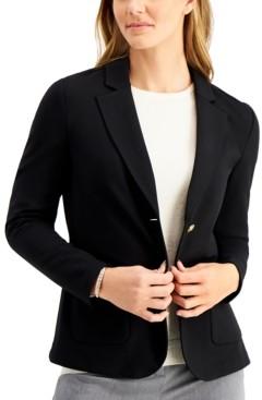 Charter Club Petite Knit Blazer, Created for Macy's