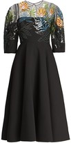Valentino Illusion Sequin Wool & Silk Fit-&-Flare Dress