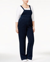 Melissa McCarthy Trendy Plus Size My Girl Wash Overalls