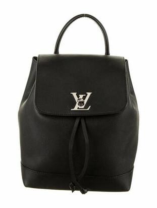 Louis Vuitton Leather Lockme Backpack Black