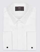 M&S Collection 2in Longer Pure Cotton Easy to Iron Shirt