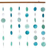 Blue and Green Capiz Shell Curtain