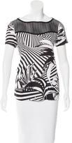 Versace Laser Cut Printed T-Shirt