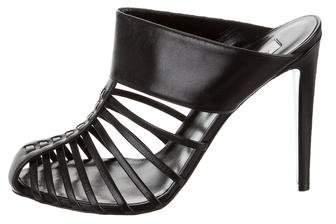 Altuzarra Leather Cage Mules w/ Tags
