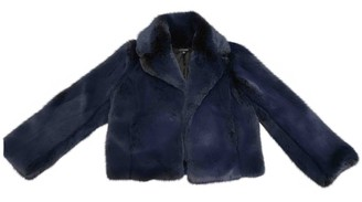 Intermix Blue Faux fur Jacket for Women