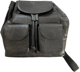 Nancy Gonzalez \N Silver Crocodile Backpacks