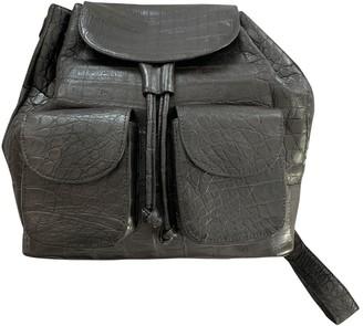 Nancy Gonzalez Silver Crocodile Backpacks