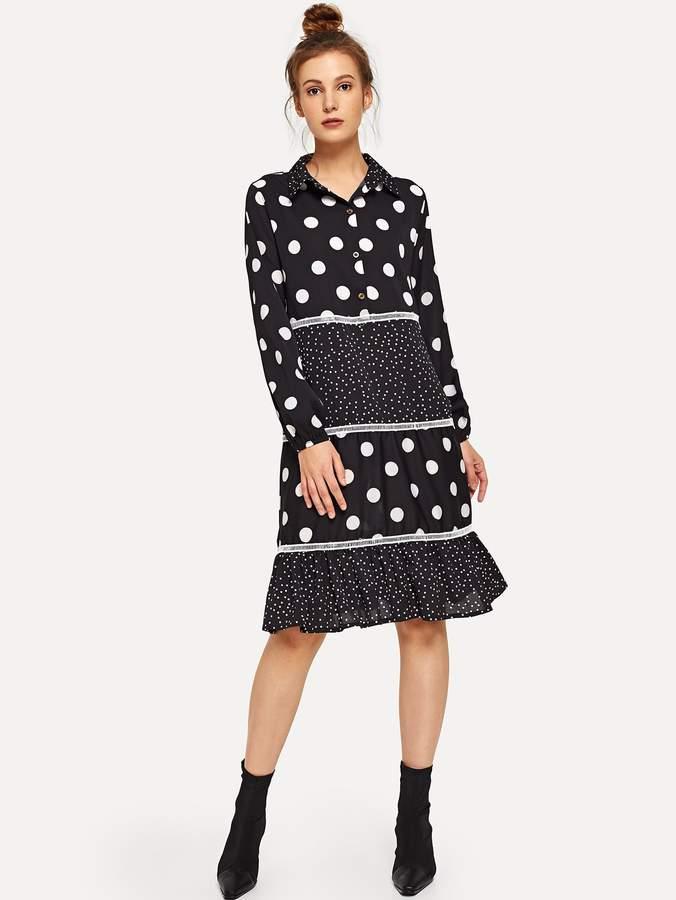 6bd6a31c9c Polka Dot Shirt Dress - ShopStyle