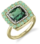 Irene Neuwirth Green Tourmaline, Chrysoprase and Diamond Ring