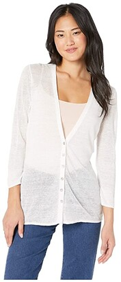 Nic+Zoe Divine Cardy (Paper White) Women's Clothing