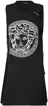 Versace Printed Jersey Sleeveless T-shirt