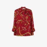Balenciaga Lavalliere Chain Jewels blouse