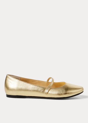 Ralph Lauren Alyssa Leather Mary Jane Flat