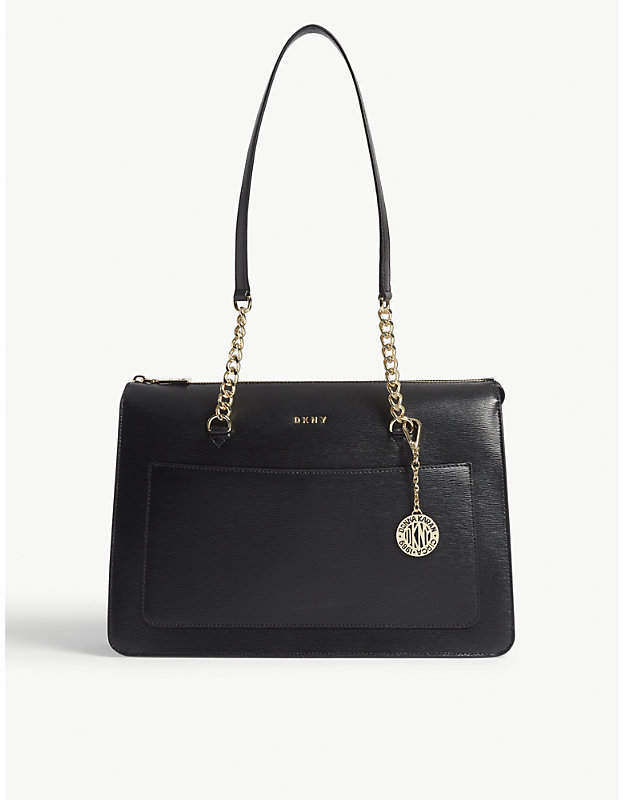 DKNY Bryant park large leather zipped tote
