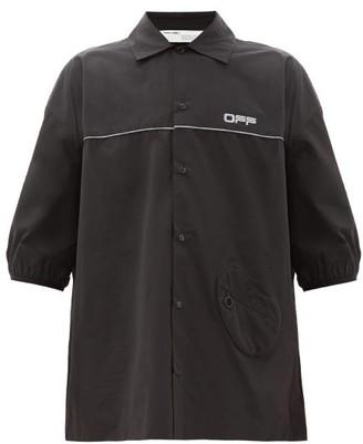 Off-White Oversized Cotton-blend Short-sleeved Shirt - Black Silver