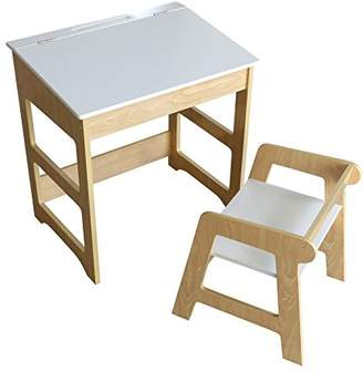 Camilla And Marc My Note Deco 066087 School Desk and Desk Seat: Width 57x Depth 41x Height 57/60, 5 cm Seat: Width 36.5 x Depth 38 x Height 40 cm