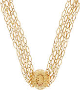 Timeless Pearly Layered Gold-Plated Chain Choker