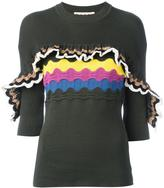 Marni ruffle trim short sleeved jumper - women - Cotton/Polyamide - 42