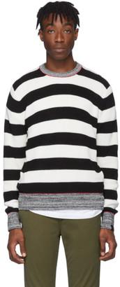 Rag & Bone Black and White Striped Axwell Sweater