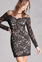 Forever 21 FOREVER 21+ Soieblu Floral Lace Dress