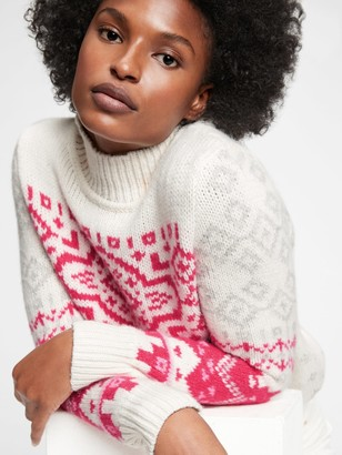 Gap Fair Isle Turtleneck Sweater
