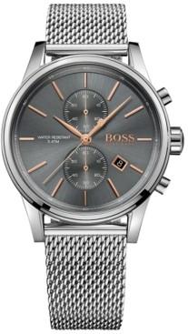 BOSS Hugo Men's Chronograph Jet Stainless Steel Mesh Bracelet Watch 41mm
