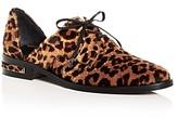 Freda Salvador Women's Wit Leopard Print Calf Hair D'Orsay Oxfords