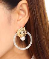 Amrita Singh Women's Earrings Gold/Ivory - Ivory & Goldtone Loin Drop Earrings