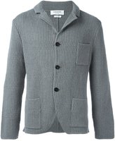 Thom Browne patch pockets ribbed cardigan