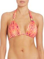 Heidi Klein Printed Halter Bikini Top