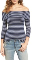 Hinge Women's Off The Shoulder Stretch Jersey Top