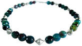 Chen Fuchs Jewelry Beaded Agate Gemstone Necklace