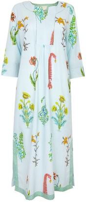 Nologo Chic Botanical Maxi - Pure Cotton - Persian Blue