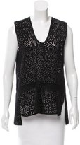 Zero Maria Cornejo Sleeveless Embroidered Top