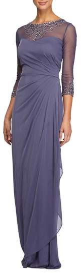 Alex Evenings Women's Embellished A-Line Gown