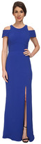 ABS by Allen Schwartz Cutout Shoulder Gown