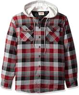 Wrangler Men's Authentics Long Sleeve Quilted Lined Flannel Shirt Jacket