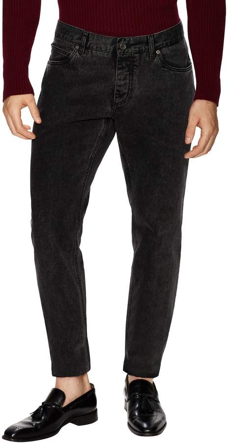 Dolce & Gabbana Men's Faded Cotton Slim Straight Fit Jeans