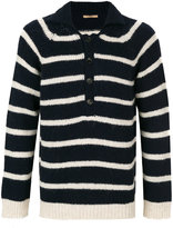 Nuur striped button collar jumper