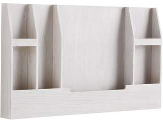 Pottery Barn Teen Wooden Wall Organizer, White Wash
