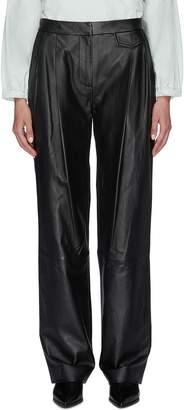 3.1 Phillip Lim Pleated leather wide leg pants