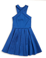 Sally Miller Girls 7-16 Taffeta Halter Dress
