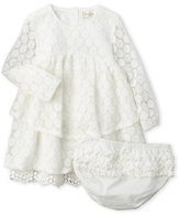 Jessica Simpson Infant Girls) Two-Piece Tiered Lace Dress & Bloomers Set