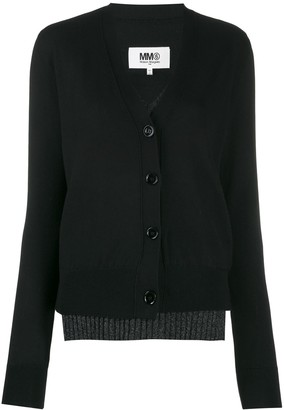 MM6 MAISON MARGIELA double-layer cardigan