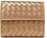 Bottega Veneta Intrecciato Leather Wallet - Gold