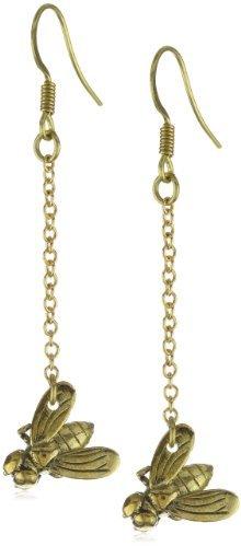 Monserat De Lucca Brass Fly Earrings
