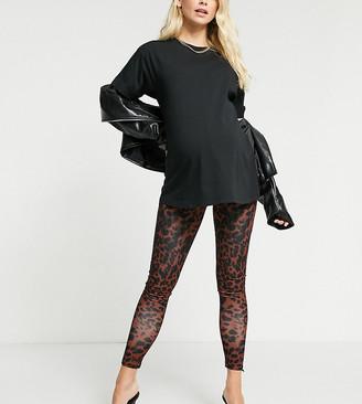 ASOS DESIGN Maternity legging in animal print